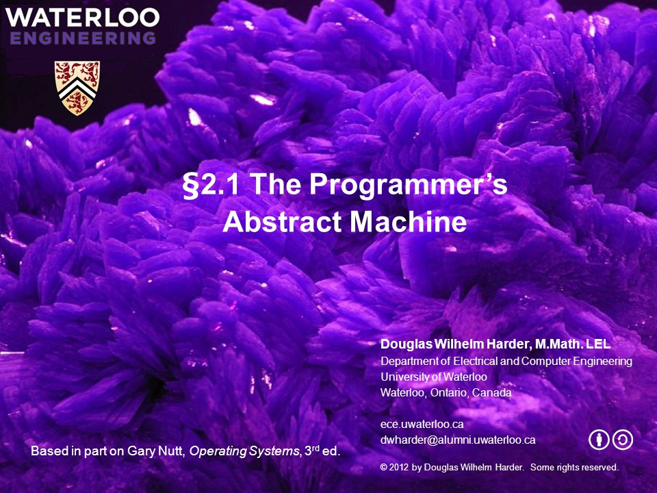 §2.1 The Programmer's Abstract Machine