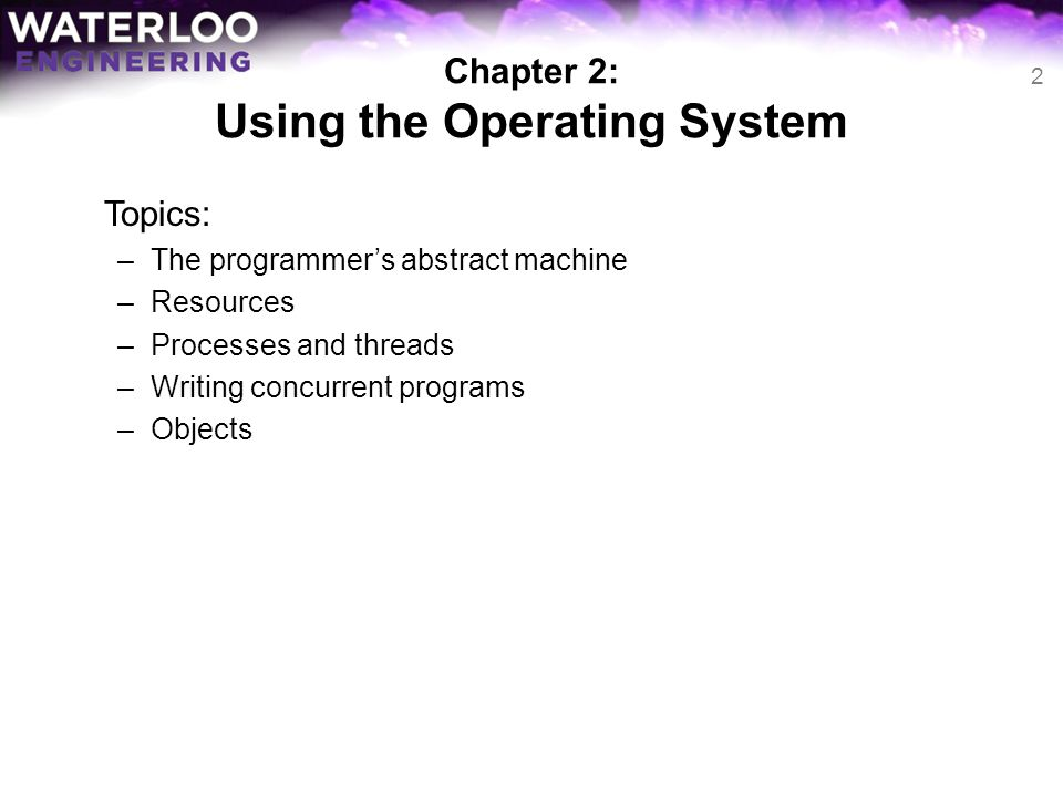 Chapter 2: Using the Operating System