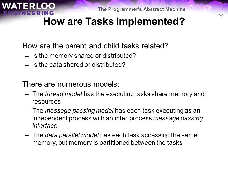 How are Tasks Implemented