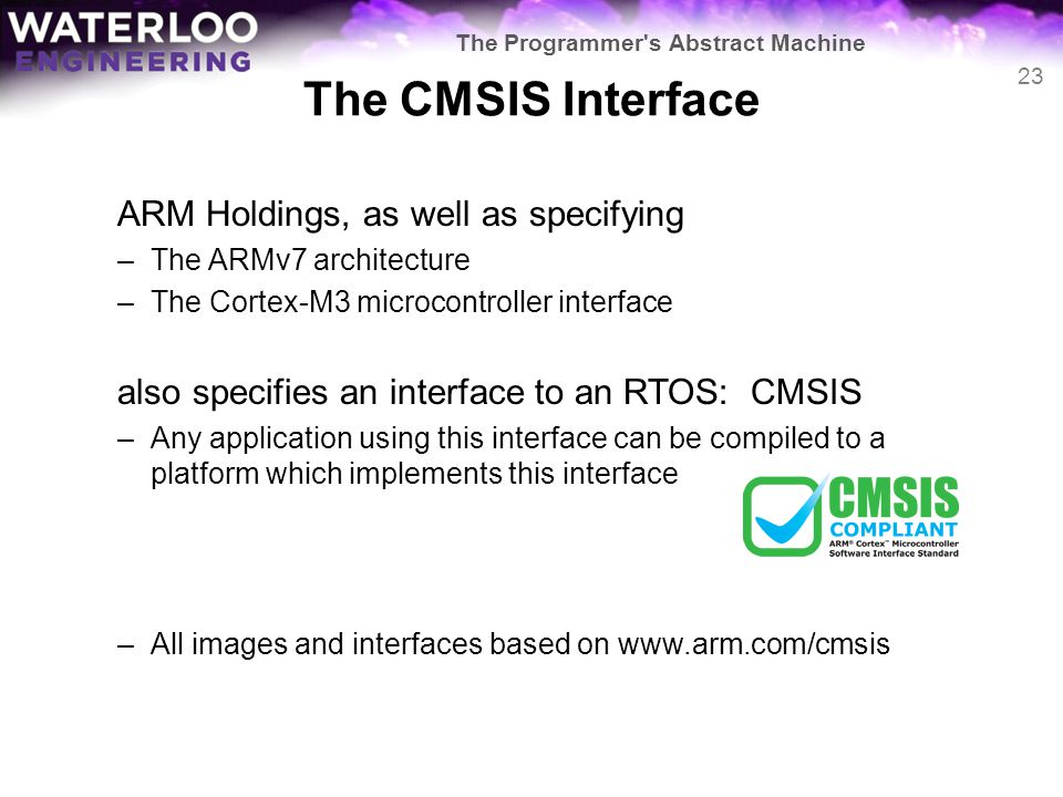 The CMSIS Interface ARM Holdings, as well as specifying