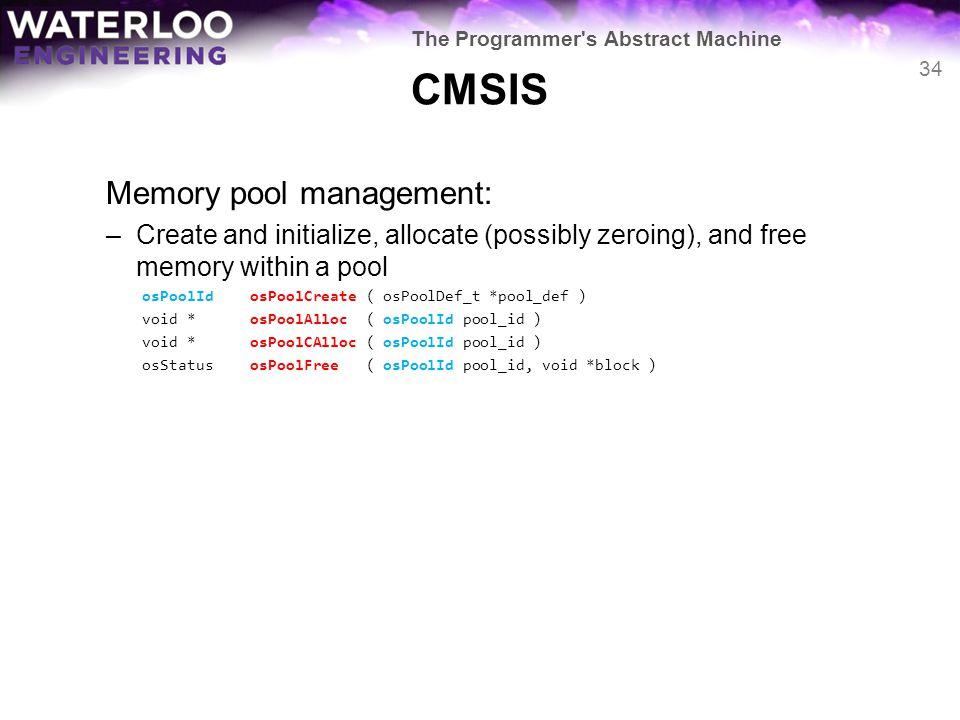 CMSIS Memory pool management: