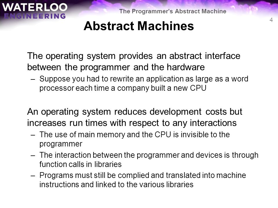 The Programmer s Abstract Machine