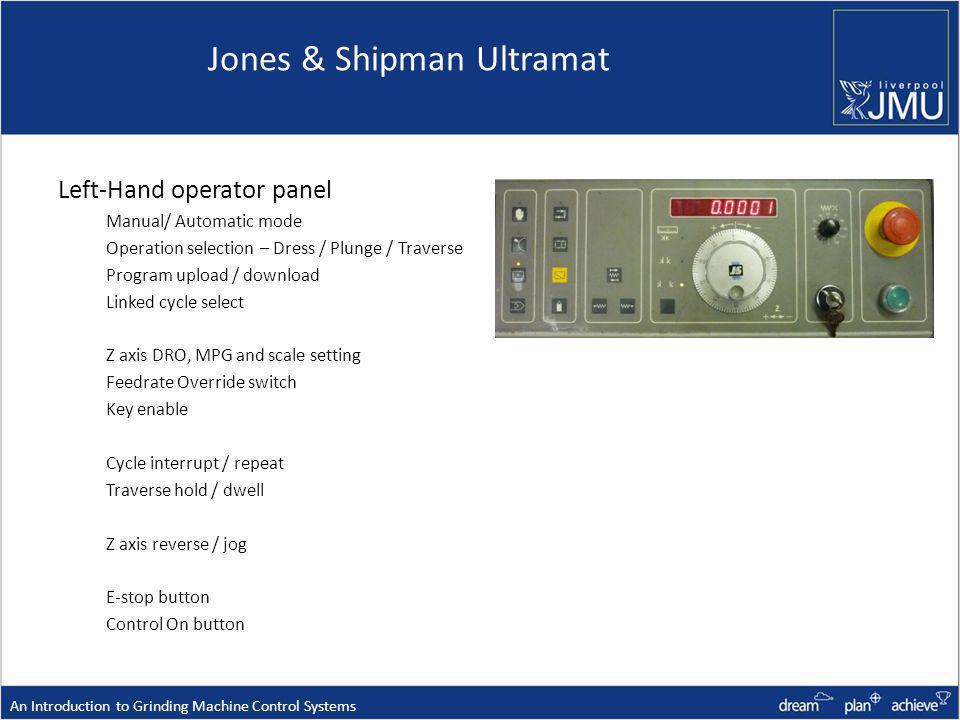 Jones & Shipman Ultramat