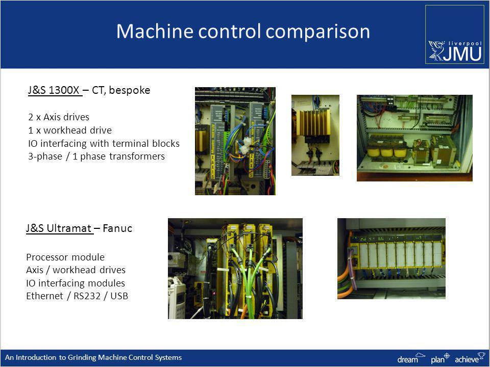 Machine control comparison