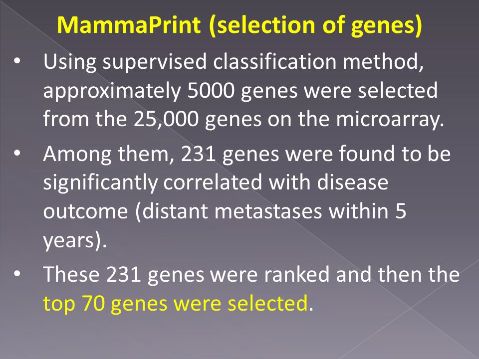 MammaPrint (selection of genes)