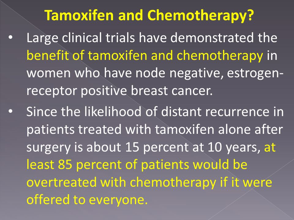 Tamoxifen and Chemotherapy