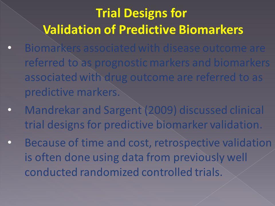 Validation of Predictive Biomarkers