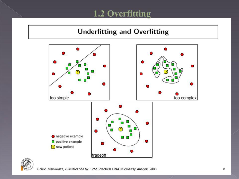 1.2 Overfitting