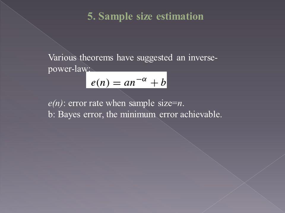5. Sample size estimation