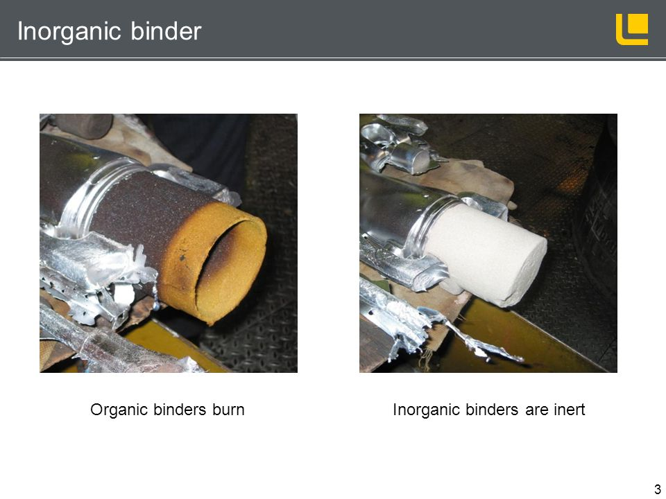 Inorganic binders are inert