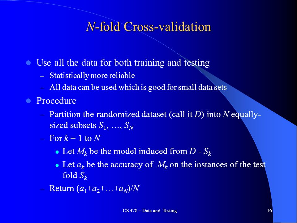 N-fold Cross-validation