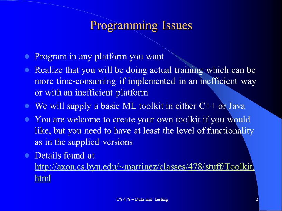 Programming Issues Program in any platform you want