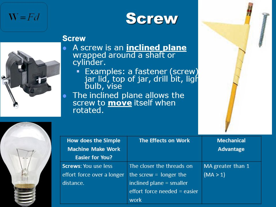 Examples of Inclined Planes  Inclined Planes