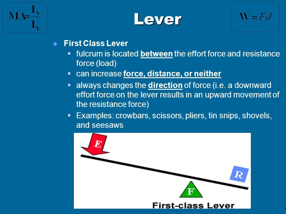 Lever First Class Lever