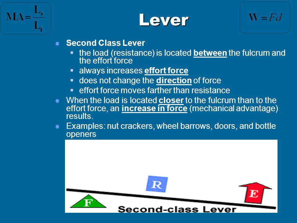Lever Second Class Lever