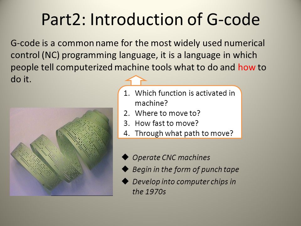 Part2: Introduction of G-code