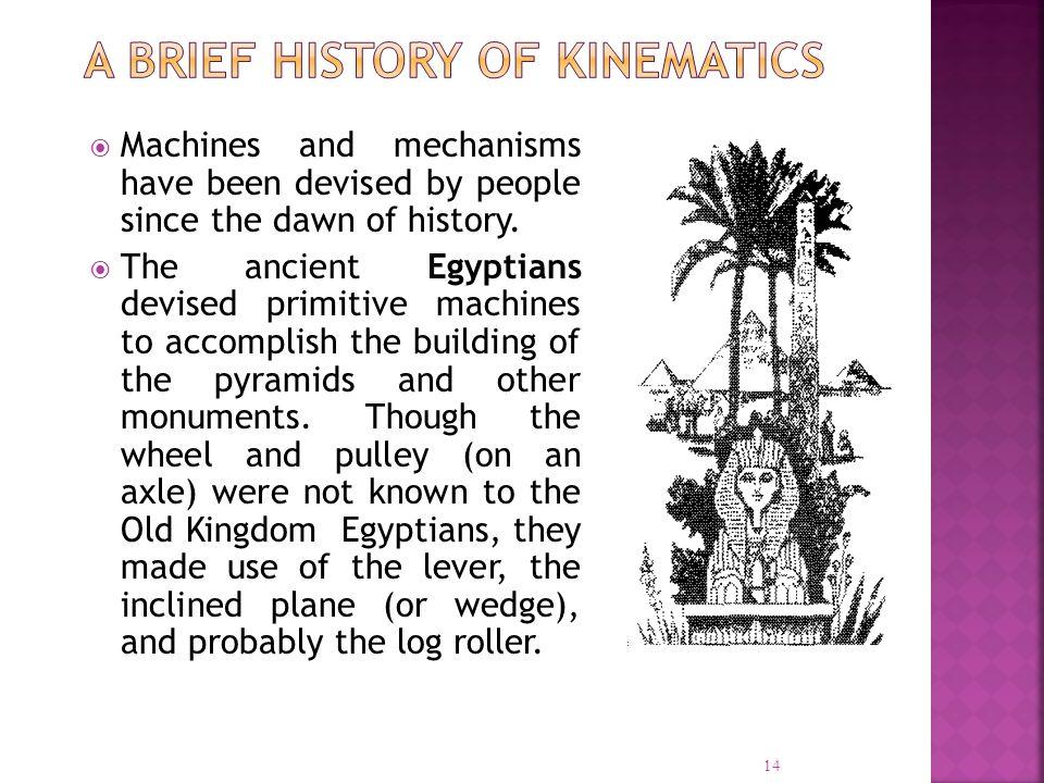 A Brief History of Kinematics