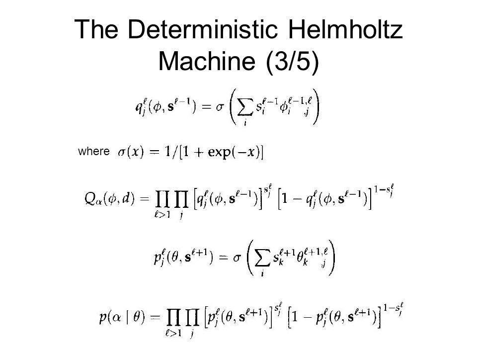 The Deterministic Helmholtz Machine (3/5)