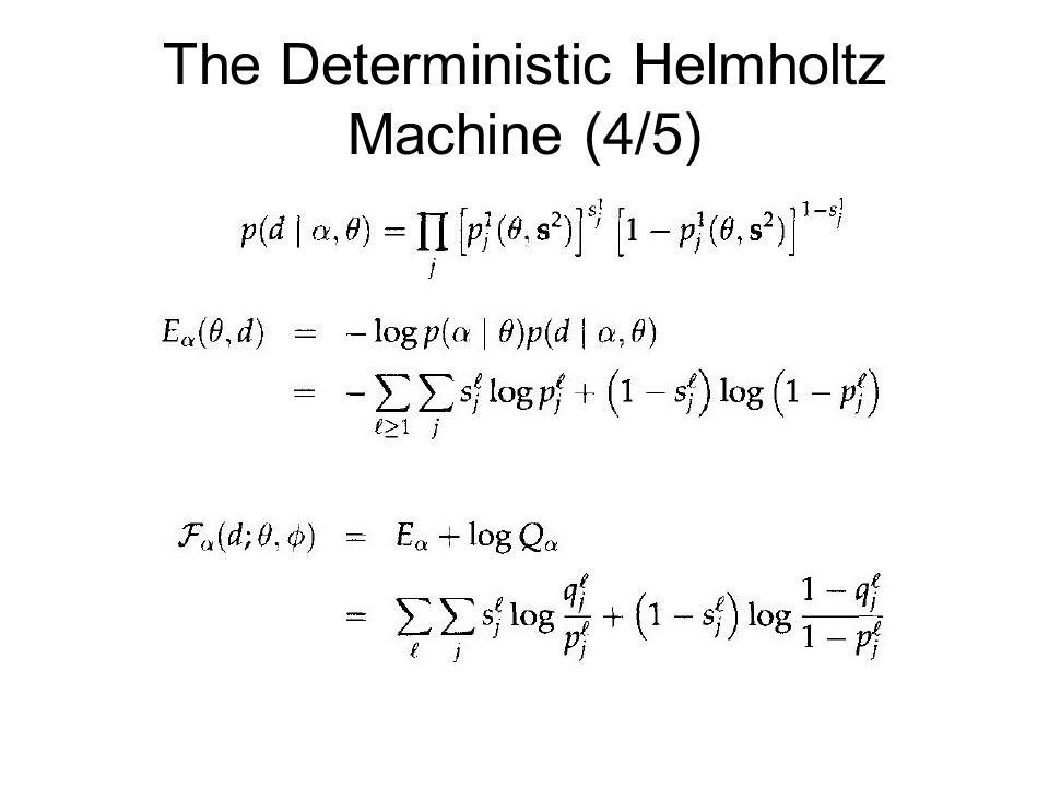 The Deterministic Helmholtz Machine (4/5)