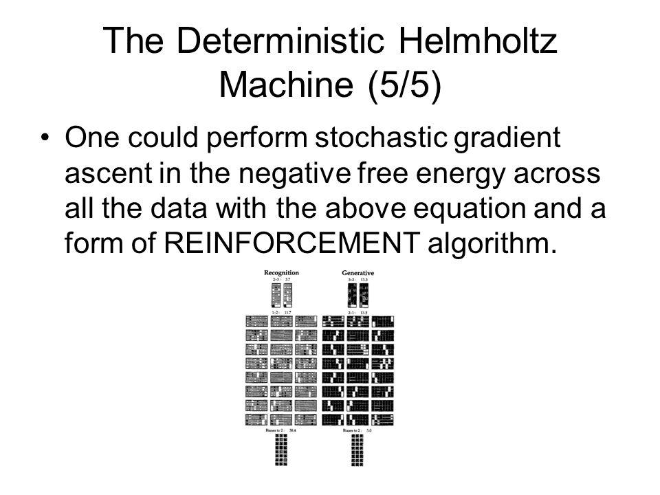 The Deterministic Helmholtz Machine (5/5)
