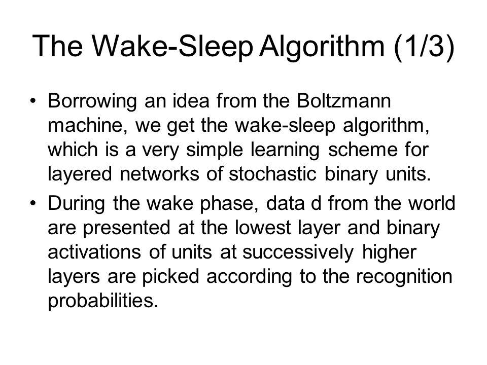 The Wake-Sleep Algorithm (1/3)