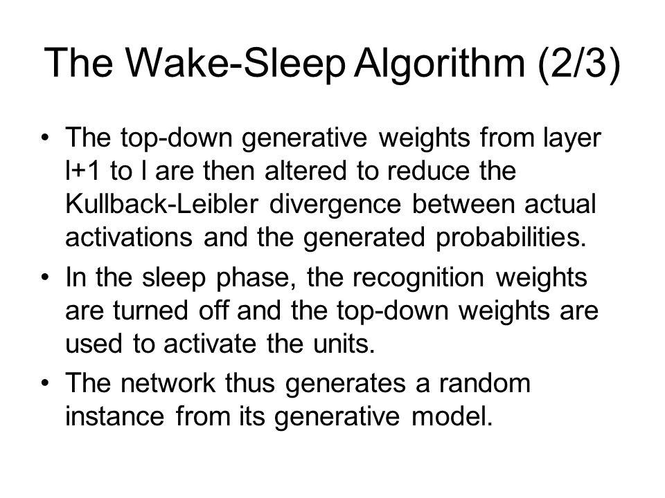 The Wake-Sleep Algorithm (2/3)