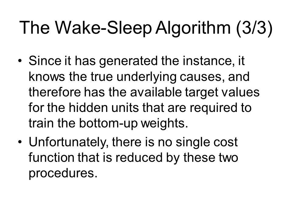 The Wake-Sleep Algorithm (3/3)