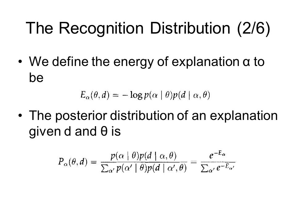 The Recognition Distribution (2/6)