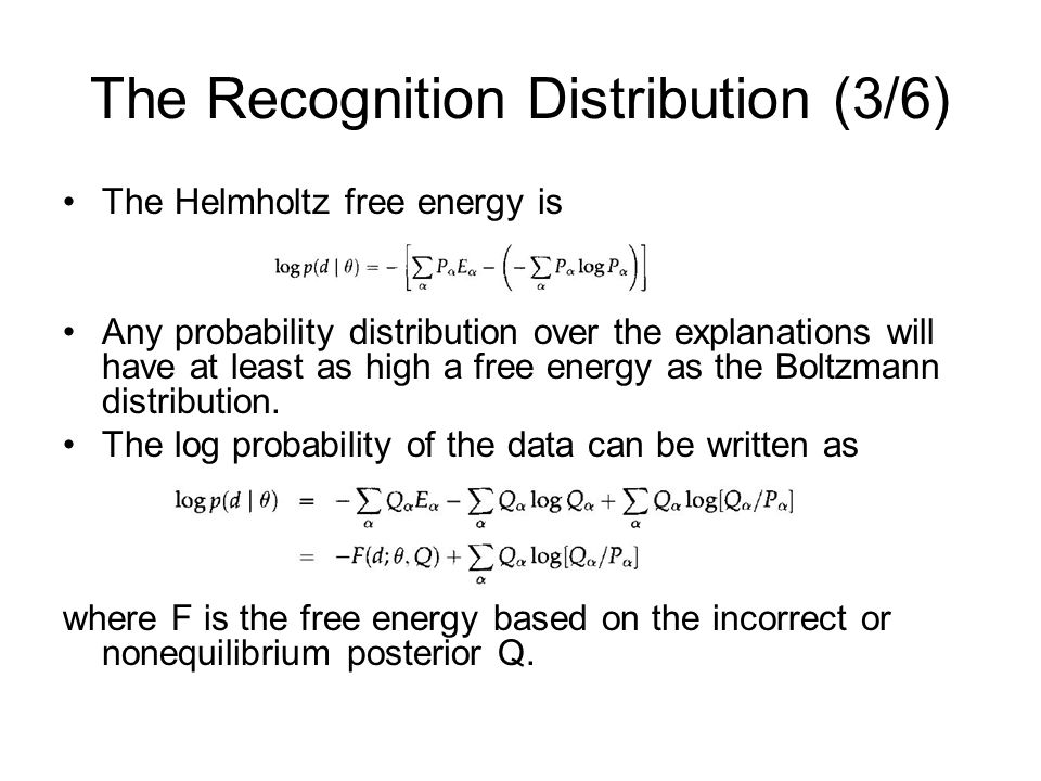 The Recognition Distribution (3/6)