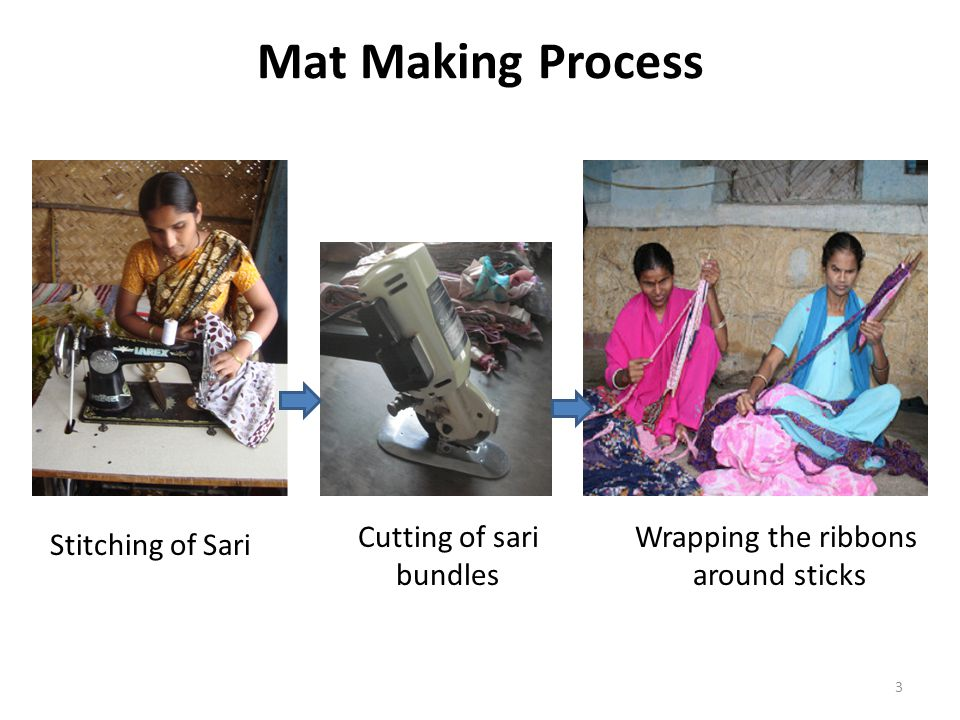 Cutting of sari bundles