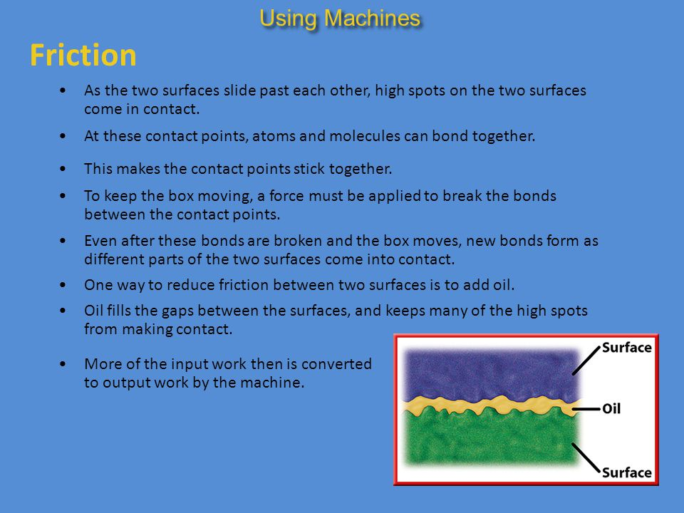 Friction Using Machines
