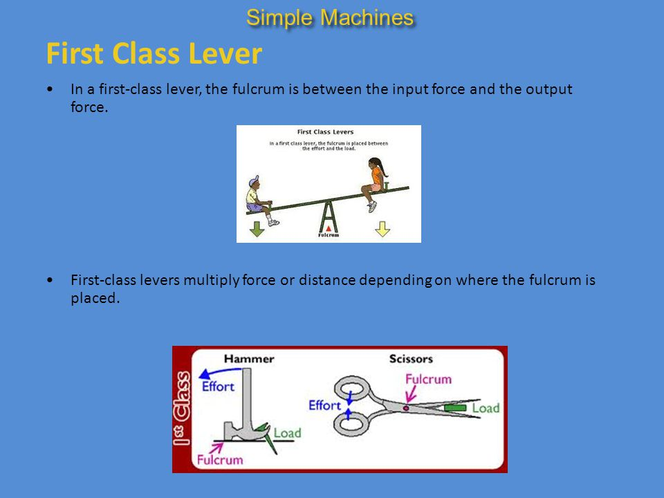 First Class Lever Simple Machines