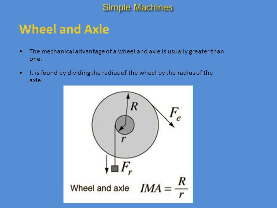 Wheel and Axle Simple Machines