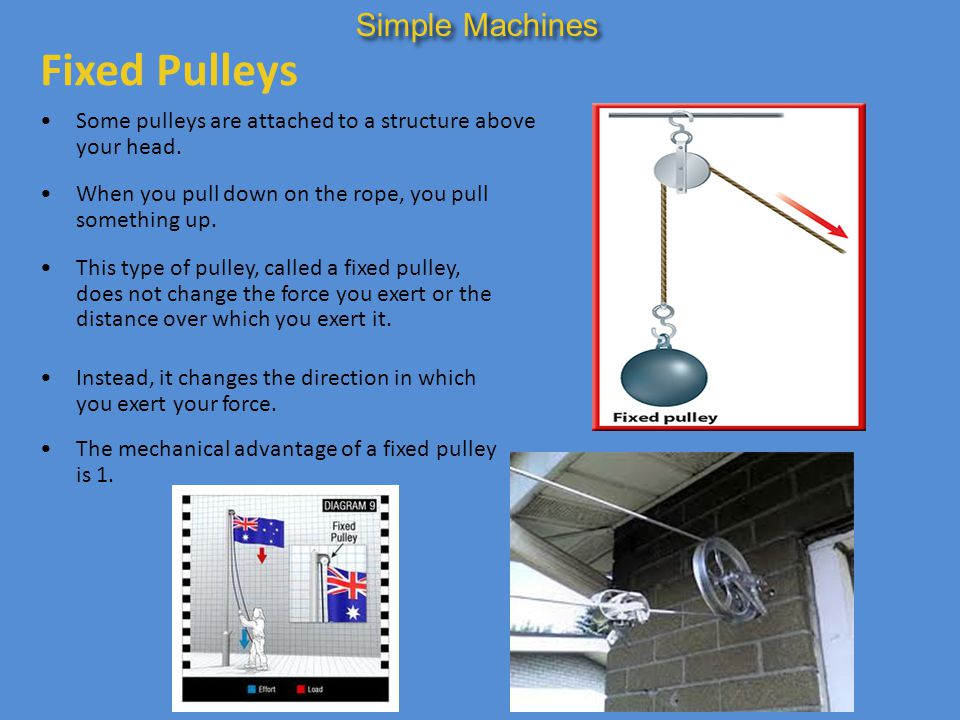 Fixed Pulleys Simple Machines