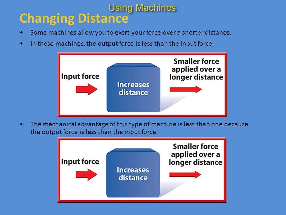 Changing Distance Using Machines