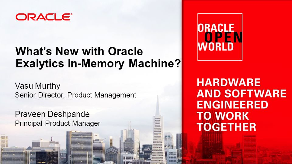 What's New with Oracle Exalytics In-Memory Machine