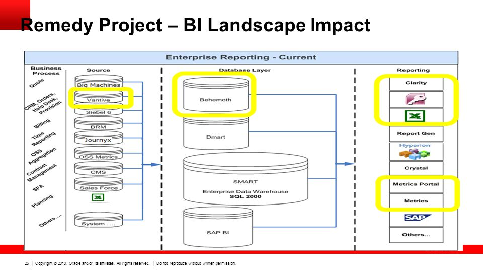 Remedy Project – BI Landscape Impact
