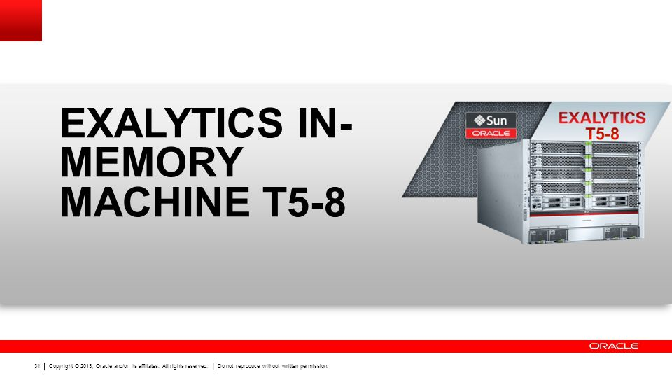 EXALYTICS IN-MEMORY MACHINE T5-8