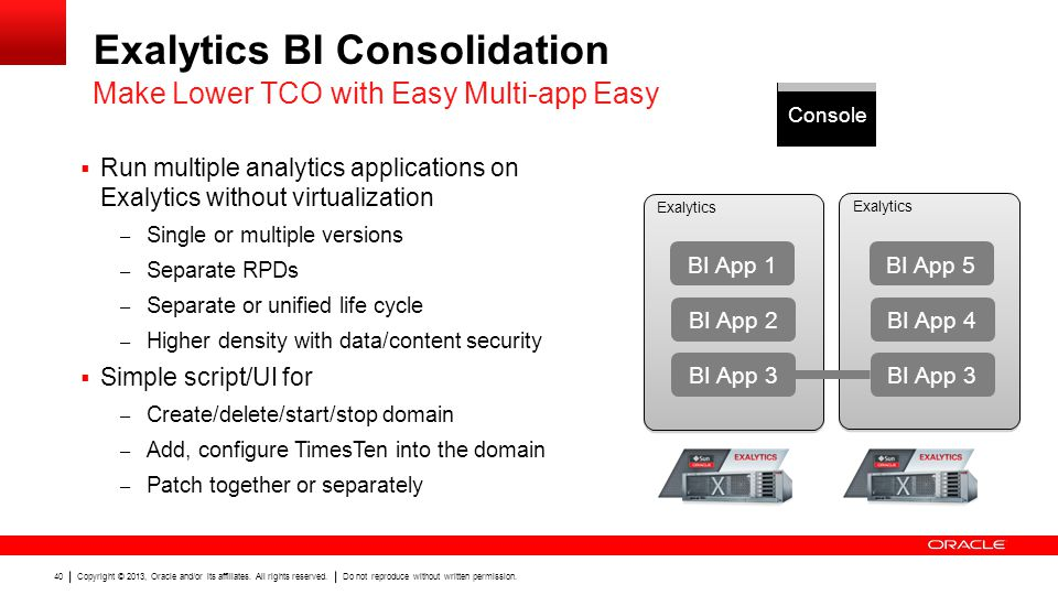 Exalytics BI Consolidation