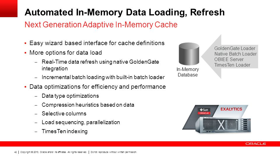 Automated In-Memory Data Loading, Refresh