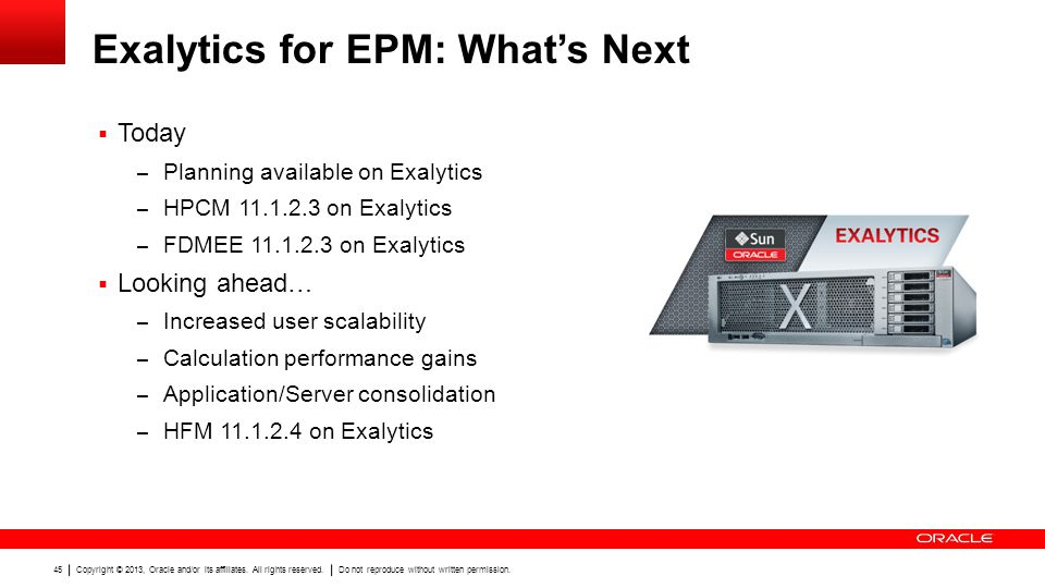 Exalytics for EPM: What's Next