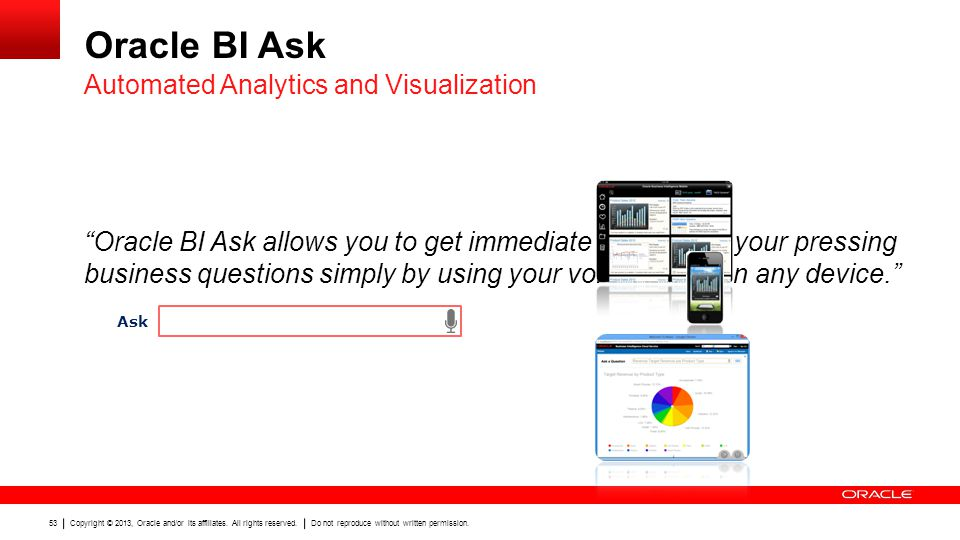 Oracle BI Ask Automated Analytics and Visualization