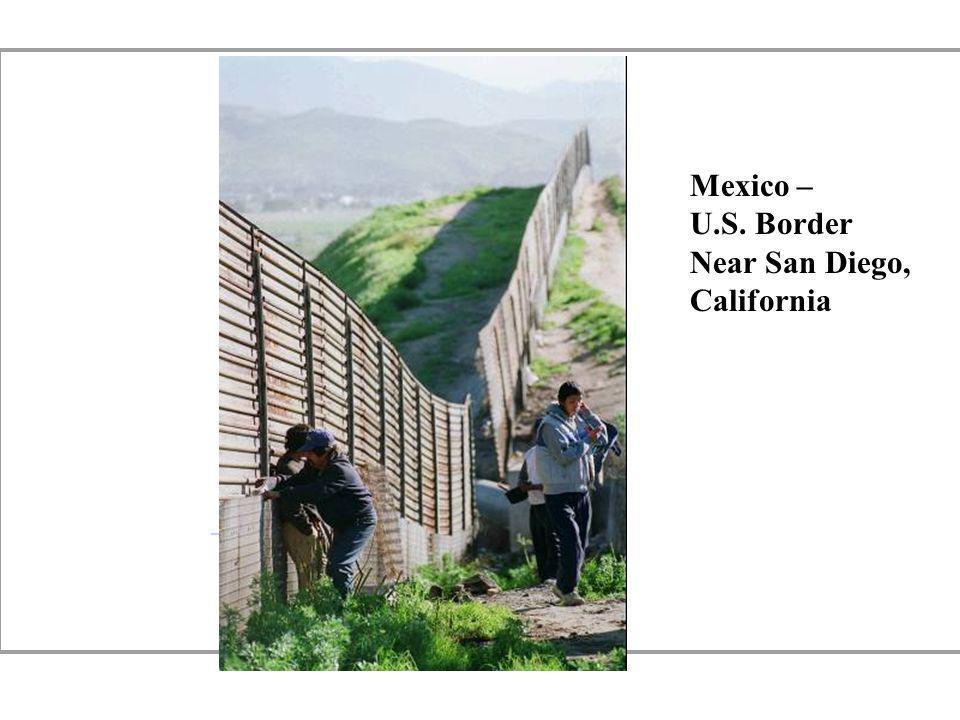 Mexico – U.S. Border Near San Diego, California