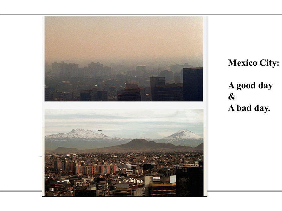 Mexico City: A good day. &