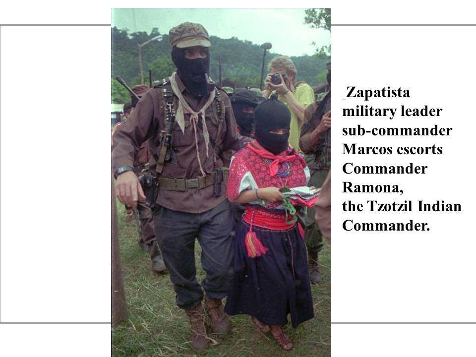 Zapatista. military leader. sub-commander. Marcos escorts.
