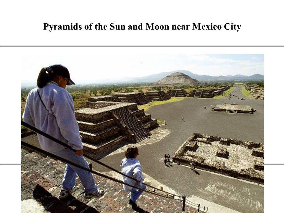 Pyramids of the Sun and Moon near Mexico City
