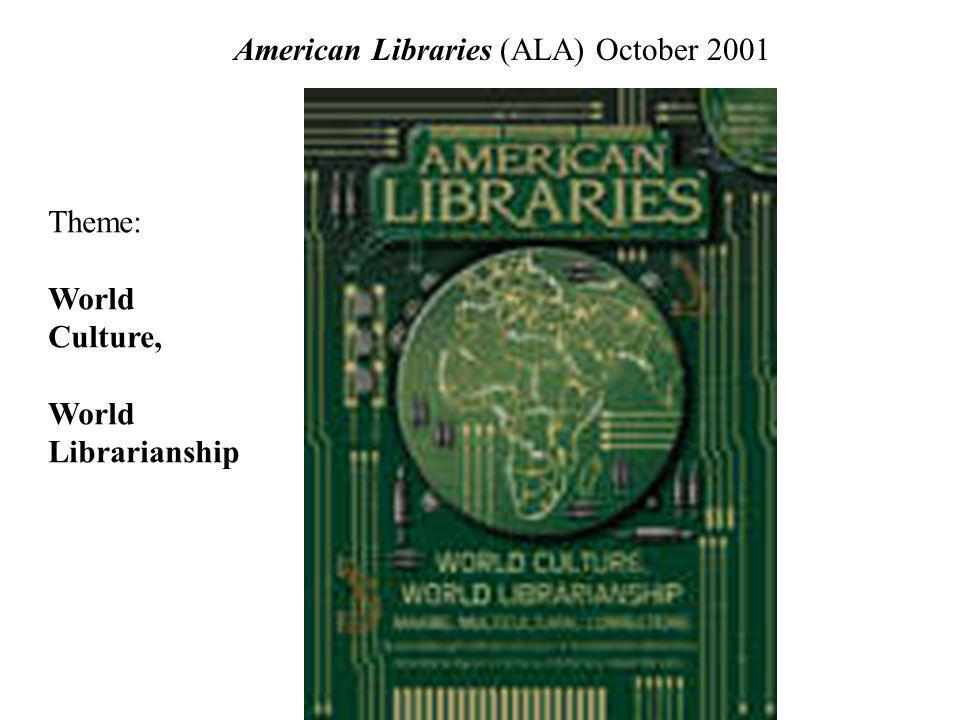 American Libraries (ALA) October 2001
