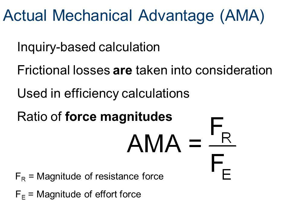 Actual Mechanical Advantage (AMA)