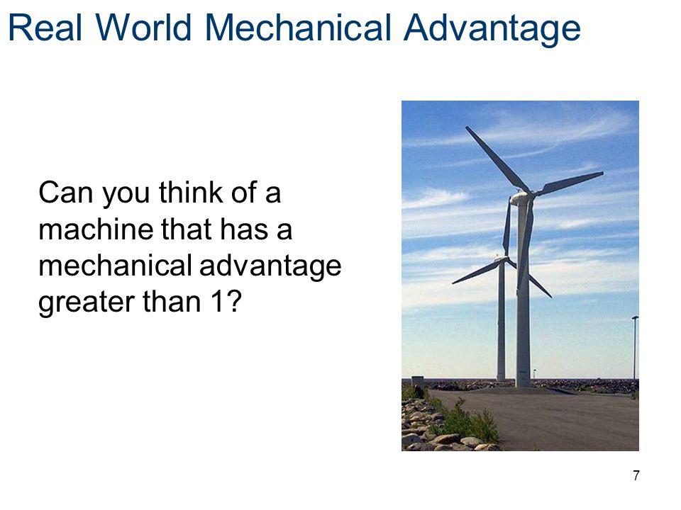 Real World Mechanical Advantage