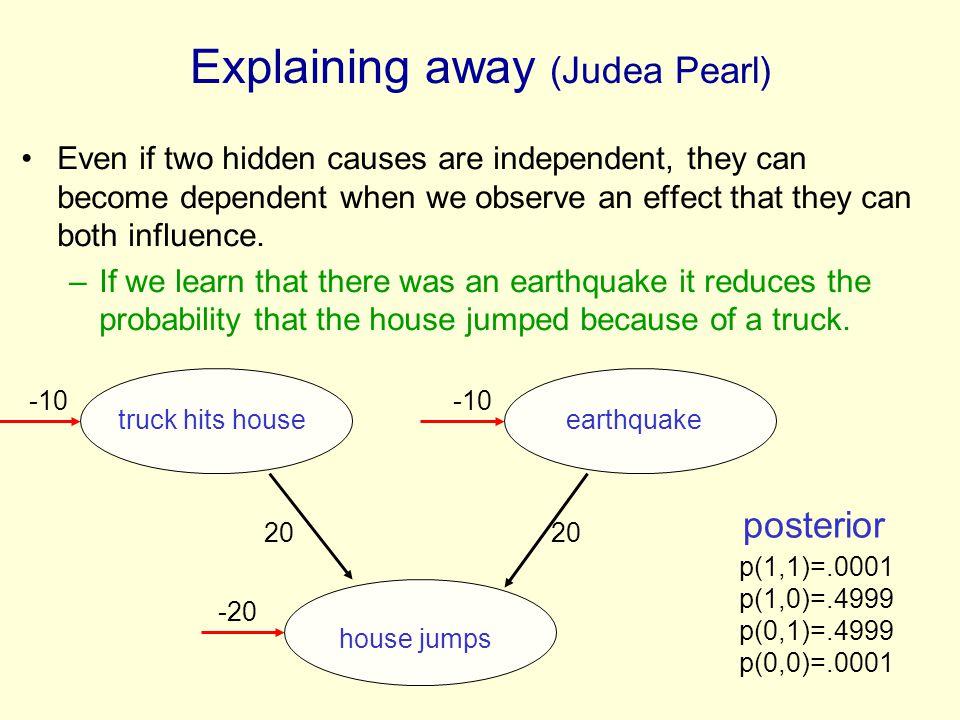 Explaining away (Judea Pearl)